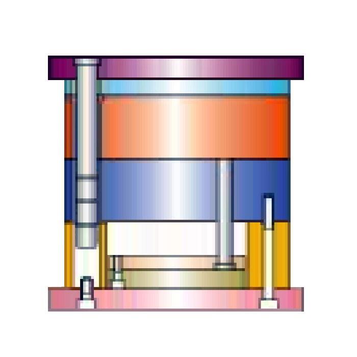 简化细水口模架