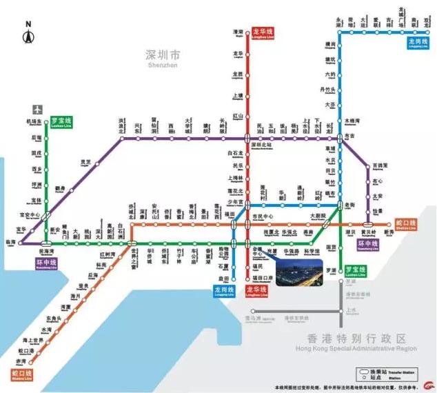 深圳地铁交通图