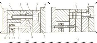 注射标准模架结构简视图