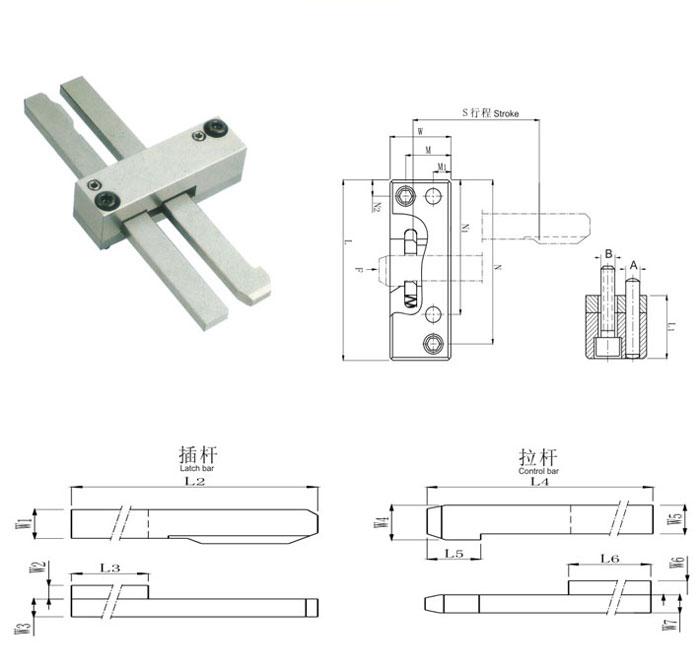 Z171锁模扣简视图
