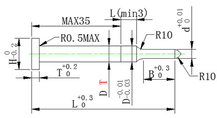SKD11二級引導沖簡視圖