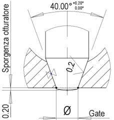 浇口和阀针处的加工要求和表面粗糙度要求