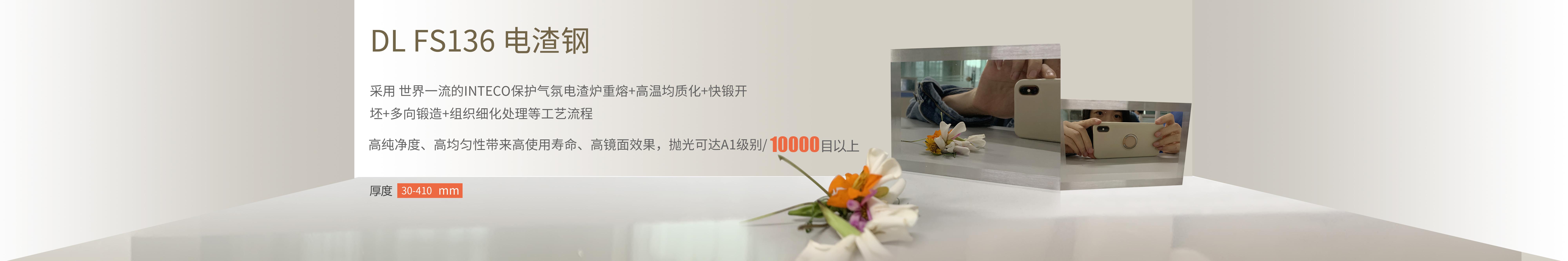 DL FS136 电渣钢:抛光可达A1级别 10000目以上